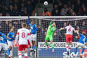 Christy Pym (1) punches clear during the EFL Sky Bet League 1 match between Peterborough United and Rotherham United at London Road, Peterborough, England on 25 January 2020.