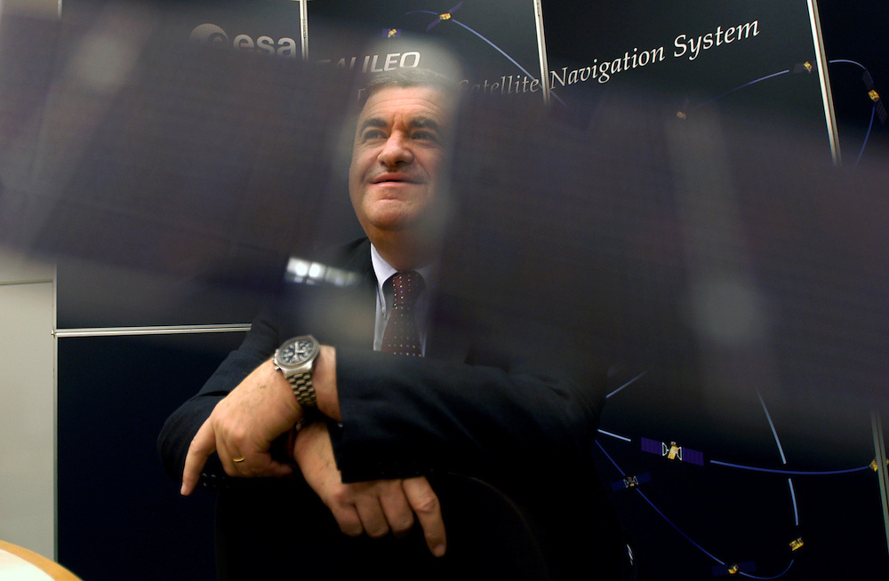 Giuseppe Viriglio, Director of the EU and Industrial Programmes, which includes the Galileo European Satellite Navigation System, at the Paris headquarters of the European Space Agency..Paris, France. 17/01/2006.Photo © J.B. Russell