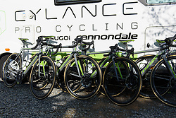Cylance Pro Cycling at La Flèche Wallonne Femmes - a 120 km road race starting and finishing in Huy on April 19 2017 in Liège, Belgium.