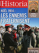 Front cover of issue no. 707 of Historia, a monthly history magazine, published November 2005 featuring an article on Christmas 1914 entitled Enemies Fraternising. Historia was created by Jules Tallandier and published 1909-37 and again from 1945. Picture by Manuel Cohen