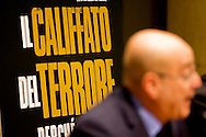 "Roma 18 Febbraio 2015<br /> Presentato il  libro  di Maurizio Molinari, corrispondente del  giornale La Stampa da Gerusalemme, ""Il califfato del terrore. Perché lo stato islamico minaccia l'occidente"", nella sala del Tempio di Adriano.<br /> Presented the book by Maurizio Molinari, correspondent of the newspaper La Stampa from Jerusalem, ""The caliphate of terror. Because the Islamic state threatens the West"", in the hall of the Temple of Hadrian."
