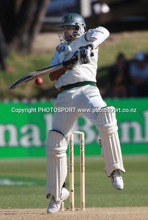Pakistan batsman Azar Ali on Day 2 of the 2nd test match.  New Zealand Black Caps v Pakistan, Test Match Cricket. Basin Reserve, Wellington, New Zealand. Sunday 16 January 2011. Photo: Andrew Cornaga/photosport.co.nz