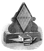 Cooke and Wheatstone's five-needle telegraph.  Patented 1837, installed 1839. Engraving