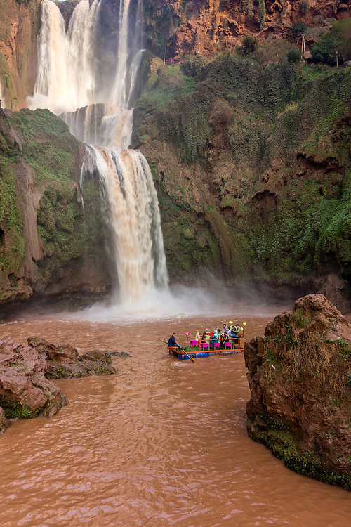 Ouzoud Waterfalls in the Grand Atlas village of Tanaghmeilt, province of Azilal, Morocco.