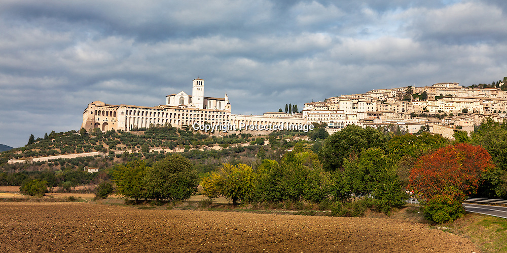The beautiful hillside town of Assisi, Italy. This was taken on the Feast of St. Francis during Pope Francis' visit to Assisi.