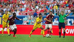 CHARLOTTE, USA - Saturday, August 2, 2014: Liverpool's Raheem Sterling in action against AC Milan during the International Champions Cup Group B match at the Bank of America Stadium on day thirteen of the club's USA Tour. (Pic by David Rawcliffe/Propaganda)