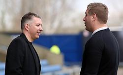 Peterborough United Manager Darren Ferguson talks with Oxford United manager Karl Robinson before kick-off - Mandatory by-line: Joe Dent/JMP - 16/02/2019 - FOOTBALL - Kassam Stadium - Oxford, England - Oxford United v Peterborough United - Sky Bet League One