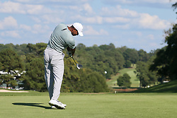 September 21, 2018 - Atlanta, Georgia, United States - Tiger Woods tees off the 13th hole during the second round of the 2018 TOUR Championship. (Credit Image: © Debby Wong/ZUMA Wire)