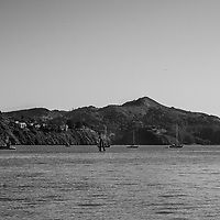 Sausalito, view of Angel island