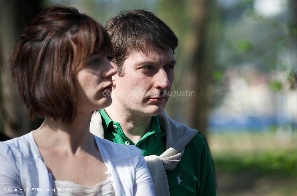 Manina VALLEIX et Pascal TANTOT, comédiens - tournage scène imposée de François YANG - emergence 2012