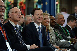 Image ©Licensed to i-Images Picture Agency. 22/07/2014. Glasgow, Scotland. Chancellor of the Exchequer, George Osborne during the Commonwealth Games Business Conference 2014 at Glasgow University. Picture by Andrew Parsons / i-Images