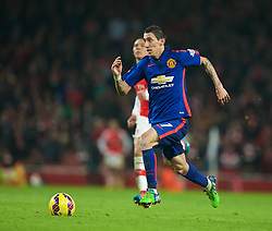 LONDON, ENGLAND - Saturday, November 22, 2014: Manchester United's Angel Di Maria in action against Arsenal during the Premier League match at the Emirates Stadium. (Pic by David Rawcliffe/Propaganda)