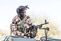 Counter-poaching vehicle patrol, Zakouma National Park, Chad