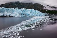 The blue in a glacier is hard to caputre or describe unless you see it in person.  The ice catches the light and is displayed as a unique shade of blue.
