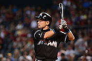 PHOENIX, AZ - JUNE 12:  Ichiro Suzuki #51 of the Miami Marlins stands at bat against the Arizona Diamondbacks in the ninth inning at Chase Field on June 12, 2016 in Phoenix, Arizona.  The Arizona Diamondbacks won 6-0.  (Photo by Jennifer Stewart/Getty Images)
