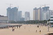 Haeundae Beach. Construction works.