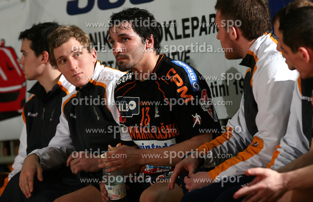 David Spiler of Celje PL at handball game RK Cimos Koper vs RK Celje Pivovarna Lasko in 19th round of Slovenian handball championship, on February 20, 2008 in Koper - Capodistria, Slovenia. Result: equal 26:26. (Photo by Vid Ponikvar / Sportal Images)