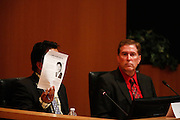Garry Barbadillo tells the audience why they should vote for him for City Council during the Milpitas City Council Forum at Milpitas City Hall in Milpitas, California, on October 9, 2014. (Stan Olszewski/SOSKIphoto)