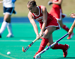 Boston University Terriers M/B Holly Wiles (14)..The Virginia Cavaliers field hockey team fell to the Boston University Terriers 3-0 at the University Hall Turf Field in Charlottesville, VA on September 23, 2007