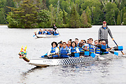 "Team building ""Dragon Boat"" activity and casual diner with Jazz Music Band, introducing the Council Off-Site Meeting (COSM), hosted by the United Arab Emirates. à  Esterel Resort / Montreal / Canada / 2018-06-20, Photo © Marc Gibert / adecom.ca"