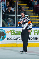 KELOWNA, CANADA - APRIL 30: Referee Steve Papp on April 30, 2017 at Prospera Place in Kelowna, British Columbia, Canada.  (Photo by Marissa Baecker/Shoot the Breeze)  *** Local Caption ***