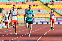 From left to right Mateusz Michalski, POL, Jason Smyth, IRE competing in the T13, 200m at the Berlin 2018 World Para Athletics European Championships