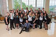 Group photo of Presidential Leadership Society. Photo by Hannah Ruhoff