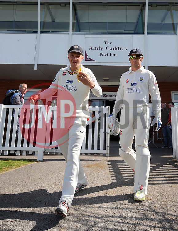 Durham's Scott Borthwick - Photo mandatory by-line: Harry Trump/JMP - Mobile: 07966 386802 - 12/04/15 - SPORT - CRICKET - LVCC County Championship - Day 1 - Somerset v Durham - The County Ground, Taunton, England.