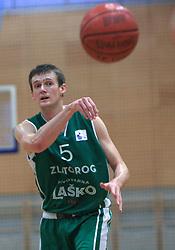 Ante Masic at 12th Round of UPC League basketball match between KK Luka Koper and KK Zlatorog Lasko, on May 2, 2009, in Arena Bonifika, Koper, Slovenia. Zlatorog won the match 72:71. (Photo by Vid Ponikvar / Sportida)