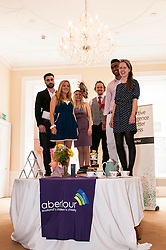 Aberlour children's charity hosted a Mad Hatter's Tea party today to launch their flagship fundraising event, Strictly Come Prancing.  Pictured L-R Eddie Robb, Catriona Jack, Adrianna Tsankova, Reece Cambpell, Saul Vasakula and Carolyn Kinnaird. 18 June 2014   (c) GER HARLEY | StockPix.eu