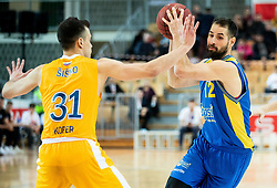 Zan Mark Sisko of Sixt Primorska vs Sandi Cebular of Hopsi Polzela during basketball match between KK Sixt Primorska and KK Hopsi Polzela in final of Spar Cup 2018/19, on February 17, 2019 in Arena Bonifika, Koper / Capodistria, Slovenia. Photo by Vid Ponikvar / Sportida