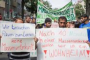 Refugee protest against mass shelter