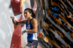 Miho Nonaka of Japan during Women's bouldering Final at the IFSC Climbing World Championships Innsbruck 2018, on September 14, 2018 in OlympiaWorld Innsbruck, Austria, Slovenia. Photo by Urban Urbanc / Sportida