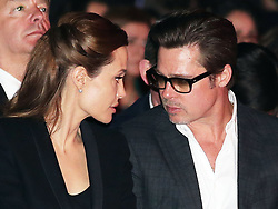 Image licensed to i-Images Picture Agency. 12/06/2014. Brad Pitt and Angelina Jolie on day three of the End Sexual Violence in Conflict  Global Summit in London Picture by Stephen Lock / i-Images