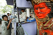 A drink vendor in Ujjain. (Supporting image from the project Hungry Planet: What the World Eats.)