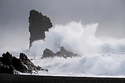 Crashing waves on the shores, Snaefellness Peninsula, Iceland