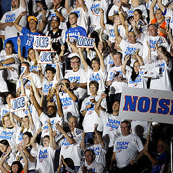 Jun 14, 2012; Oklahoma City, OK, USA;  Oklahoma City Thunder fans cheer during the second quarter of game two in the 2012 NBA Finals against the Miami Heat at Chesapeake Energy Arena. Mandatory Credit: Derick E. Hingle-US PRESSWIRE