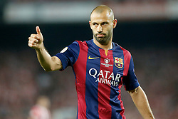 30.05.2015, Camp Nou, Barcelona, ESP, Copa del Rey, Athletic Club Bilbao vs FC Barcelona, Finale, im Bild FC Barcelona's Javier Mascherano // during the final match of spanish king's cup between Athletic Club Bilbao and Barcelona FC at Camp Nou in Barcelona, Spain on 2015/05/30. EXPA Pictures &copy; 2015, PhotoCredit: EXPA/ Alterphotos/ Acero<br /> <br /> *****ATTENTION - OUT of ESP, SUI*****