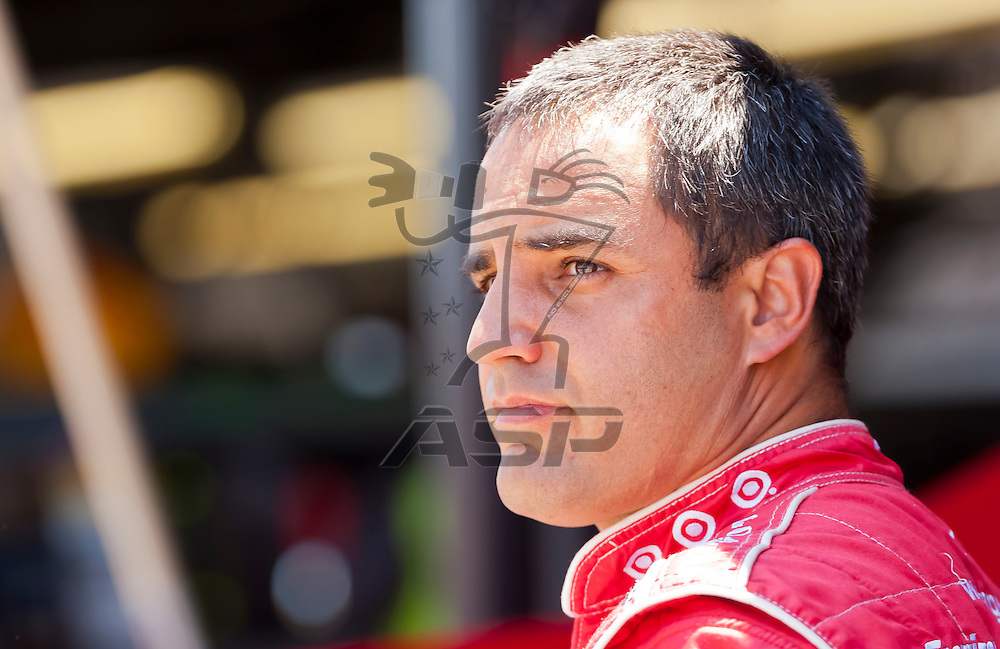 DARLINGTON, SC - MAY 11, 2012:  Juan Pablo Montoya (42) prepares for a practice session for the Bojangles Southern 500 at the Darlington Raceway in Darlington, SC.
