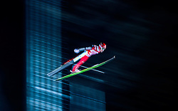 Markus Eisenbichler of Germany in action during Qualification of the HS134  FIS Ski Jumping World Cup in Nizhny Tagil, Russia, 12 December 2014.