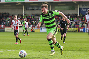 Forest Green Rovers Scott Laird(3) during the EFL Sky Bet League 2 match between Cheltenham Town and Forest Green Rovers at LCI Rail Stadium, Cheltenham, England on 14 April 2018. Picture by Shane Healey.