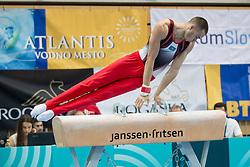 Nariman Kurbanov of Kazakhstan at Pommel Horse during Finals of Artistic Gymnastics FIG World Challenge Koper 2018, on June 2, 2018 in Arena Bonifika, Koper, Slovenia. Photo by Urban Urbanc / Sportida