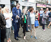 15/07/2016 Cllr Neil McNelis in Galway went bananas as the European Capital of Culture 2020 was announced dancing on the street, champagne and with in the middle of the Galway international Arts Festival which will lead to a week long celebration in the City. Photo:Andrew Downes, xposure