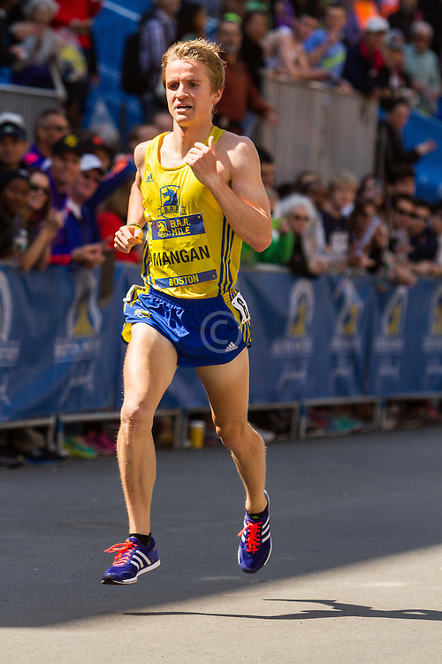Boston Marathon: BAA 5K road race, Invitational Mens Mile, Steve Mangan