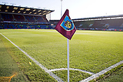Burnley corner flag. Premier League match between Burnley and Leicester City at Turf Moor, Burnley, England on 19 January 2020.
