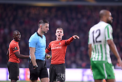 February 14, 2019 - Rennes, France - 14 BENJAMIN BOURIGEAUD (REN) - 27 HAMARI TRAORE  (Credit Image: © Panoramic via ZUMA Press)