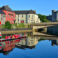 Paddling on the River Nore in Kilkenny, Ireland <br />
