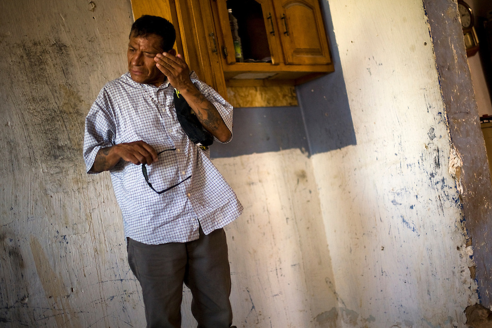 Antonio Guajardo a friend of Sergio Adrian Hernandez Guereca, reacts at Sergio's mother's house on June 8, 2010. Sergio Adrian Hernandez Guereca was killed yesterday by a Border Patrol agent.