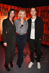 "Mary McCartney, Camilla Al Fayed and Arthur Donald at ""Hoping For Palestine"" Benefit Concert For Palestinian Refugee Children held at The Roundhouse, Chalk Farm Road, England. 04 June 2018."