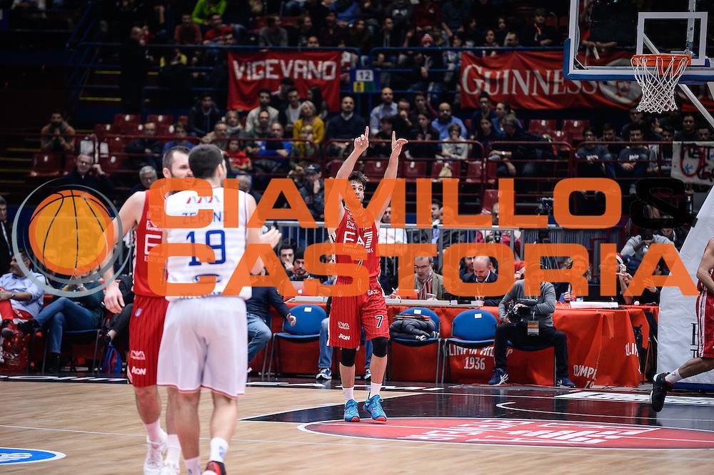 DESCRIZIONE : Milano Lega A 2015-16 <br /> GIOCATORE : Bruno Cerella<br /> CATEGORIA : Ritratto Esultanza<br /> SQUADRA : Olimpia EA7 Emporio Armani Milano<br /> EVENTO : Campionato Lega A 2015-2016<br /> GARA : Olimpia EA7 Emporio Armani Milano Enel Brindisi<br /> DATA : 20/12/2015<br /> SPORT : Pallacanestro<br /> AUTORE : Agenzia Ciamillo-Castoria/M.Ozbot<br /> Galleria : Lega Basket A 2015-2016 <br /> Fotonotizia: Milano Lega A 2015-16